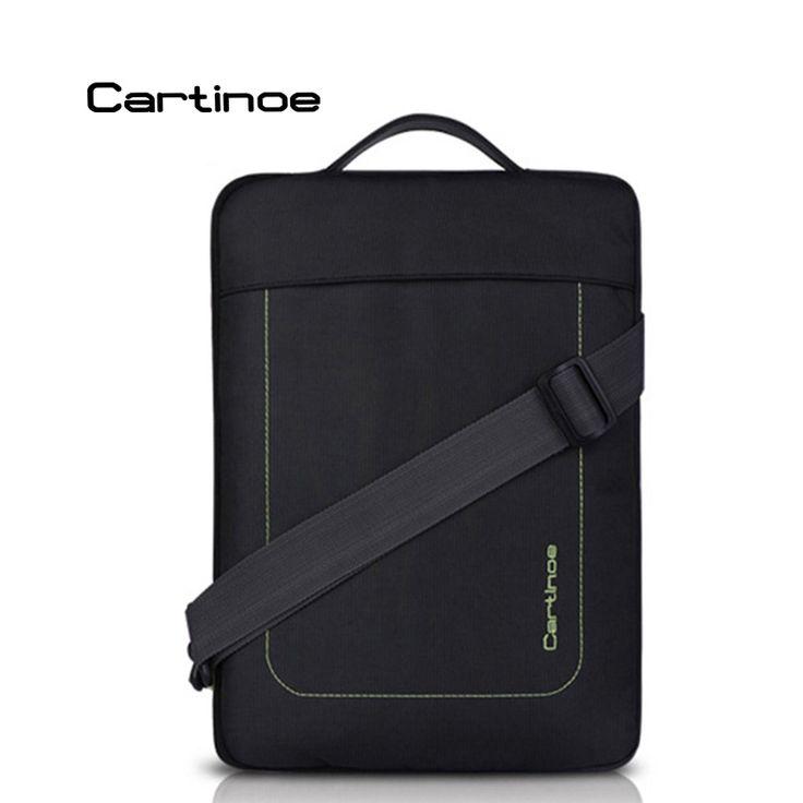 Cartinoe Unisex Nylon Laptop Shoulder Bag Sleeve Carrying Vertical Messenger Bag Case for 11.6 12 13.3 inch Notebook Ultrabook
