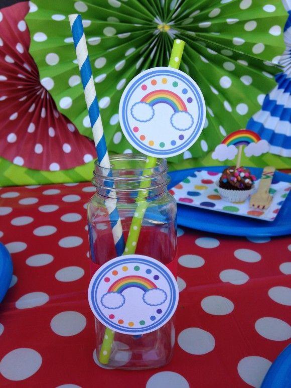 Rainbow Party Ideas   catchmyparty.com