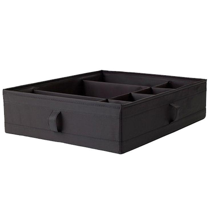 Organizer do szuflady na bieliznę czarny