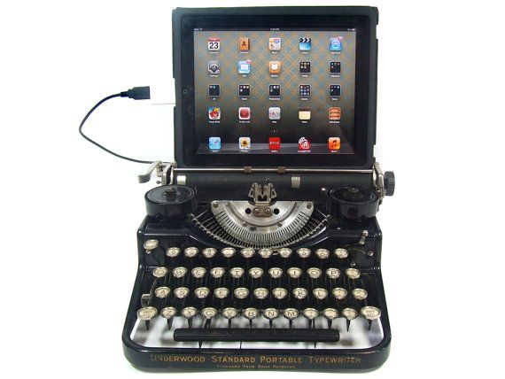 USB Typewriter Computer Keyboard  Underwood by usbtypewriter, $849.00: Ipad, Vintage Typewriters, Typewriters Computers, Typewriters Keyboard, Computer Keyboard, Techie Stuff, Computers Keyboard, Antiques Typewriters, Usb Typewriters