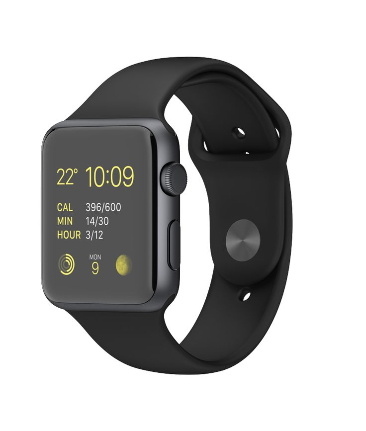 Apple Watch Sport 42mm Space Grey Aluminium Case with Black Sport Band  http://store.apple.com/xc/product/MJ3T2VC/A