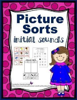 Picture and word sorts for every letter of the alphabet!  Learning station, cut and glue initial sound sorts, and extra fun pages to reinforce sounds.