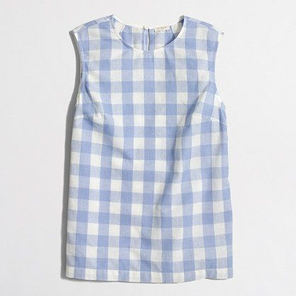 J.Crew+Factory+-+Factory+gingham+shell+top