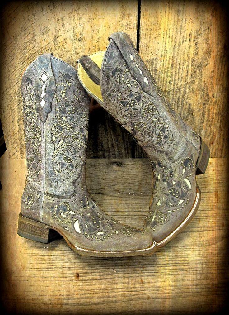 Corral ladies square toe boots