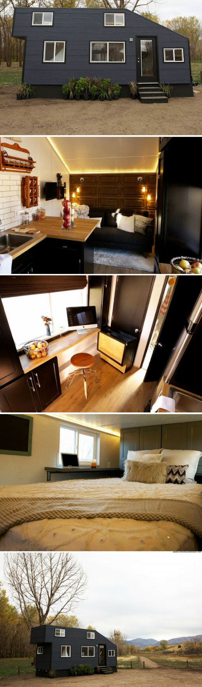 Contemporary tiny home from Tiny House Nation (200 sq ft)
