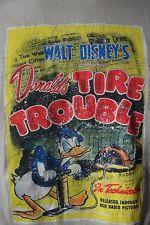 Walt Disney Store Donald Duck Tire Trouble Retro Movie Poster T-Shirt M Beige