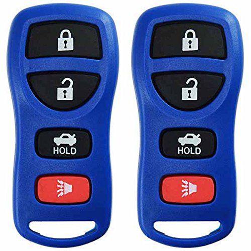2 KeylessOption Blue Replacement 4 Button Keyless Entry ...