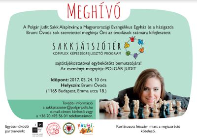 Örömpedagógia: Sakkjátszótér a Brumi Óvodában, avagy sajtótájékoz...