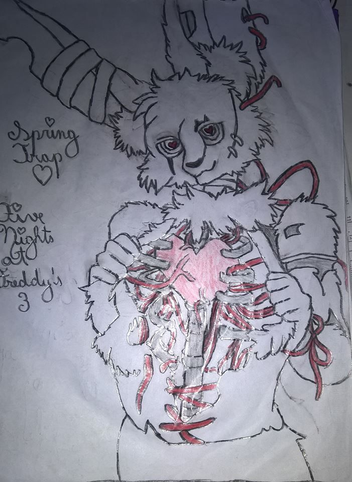 Springtrap Five Nights At Freddy S Desenho A Lapis Five Nights