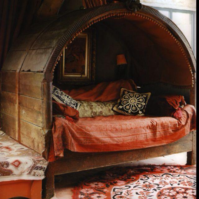 : Cozy Nooks, Spaces, Wine Barrels, Interiors, Reading Nooks, Beds Nooks, Places, Bohemian, Cozy Beds