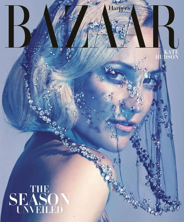 Kate Hudson graces Harper's Bazaar's October cover, on newsstands September 25, and inside, she opens up about everything from fame and family to her guest role on Glee, and talks about her fiancé, Matt Bellamy, and plans to get married.  Read the full story and see more photos from the spread at: http://www.harpersbazaar.com/katehudson.