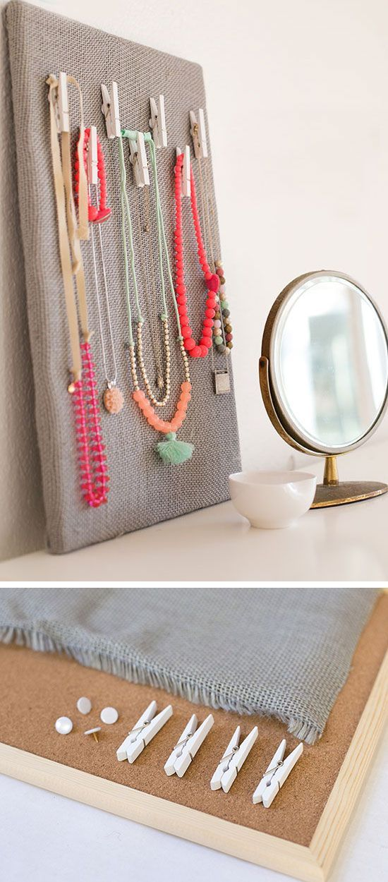 Clothes Peg Jewelry Organizer | Click Pic For 18 DIY Jewelry Storage Ideas  For Small Bedrooms