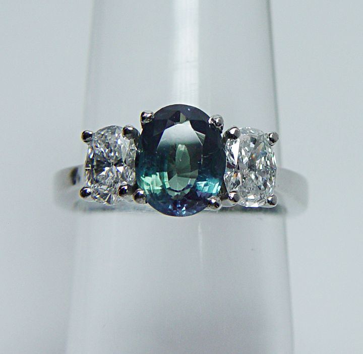 Designer Hovik Platinum 1 48ct Natural Alexandrite Diamond