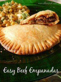 Num's the Word: These Easy Beef Empanadas are delicious and use pre-made pie crust for their base. Packed full of great flavor and simple to toss together, they are a worthy Cinco de Mayo meal!