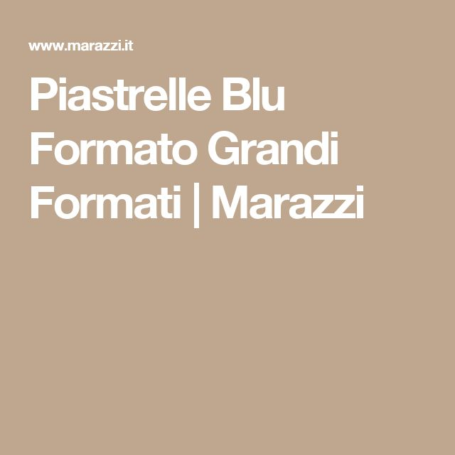 Piastrelle Blu Formato Grandi Formati | Marazzi