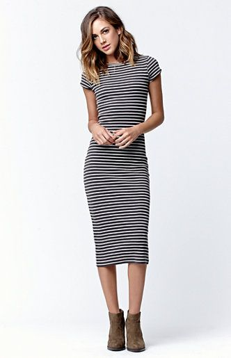 $49 Twist of Fate Stripe Midi Dress - I really like this, although I don't know if my curves would work in this. The length is perfect for me.