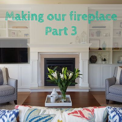 Alicia On A Sunny Day: Making our fireplace and built in cabinets Part 3
