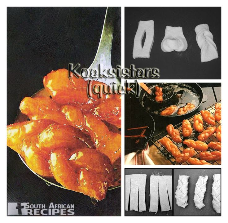 South African Recipes: KOEKSISTERS (quick) (Wenresepte 3, pg 197)