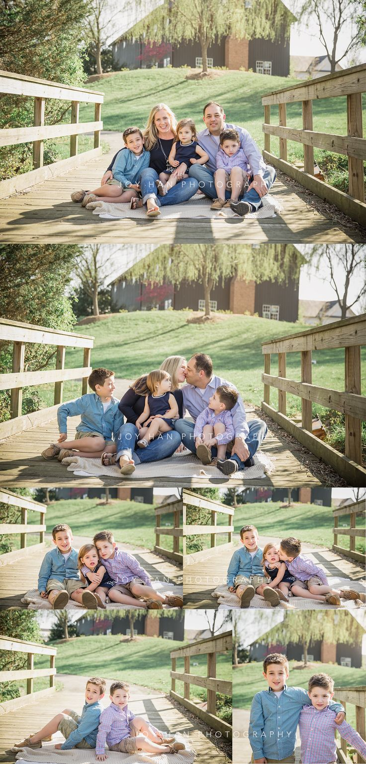 Family photography posing ideas | family of five posing | kids photography | natural light photography | northern va photography | joy han photography | mini session