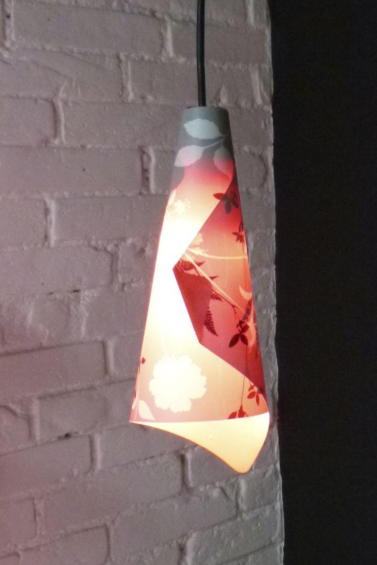 Luminária feita com jogo americano - por Erika Karpuk