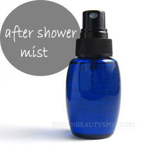 DIY: Spray-on hydrating mist using oils that recharges your skin with softness and leaves a moisturizing glow.