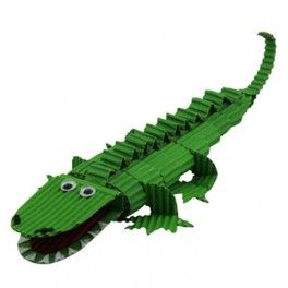Crocodile en carton ondulé
