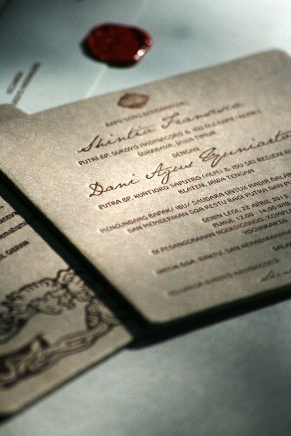 letterpress wedding invitation by MCMURS LETTERPRESS YK , via Behance