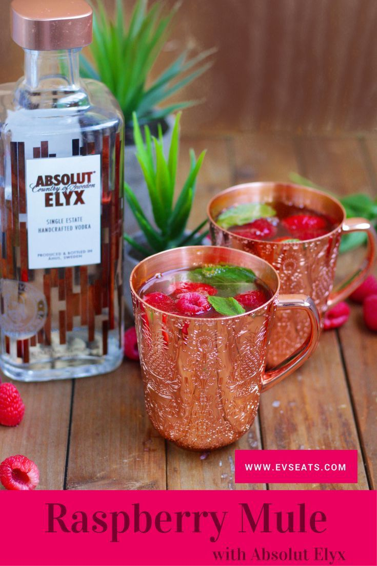 This Raspberry Mule Is The Perfect Fun And Festive Cocktail To Brighten Up Your Holiday Season Alkohol Getranke Rezepte Alkoholische Getranke Getranke Rezepte