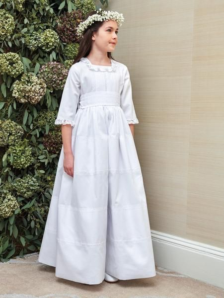 5cd7b8331195a Your sweet girl is going to look beautiful in this traditional first  communion dress. Made