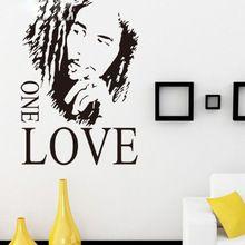 """ücretsiz kargo 16.9"""" x 24.0"""" sloganı bob marley bir aşk diy çıkarılabilir sanatı vinil alıntı duvar sticker çıkartma duvar ev dekorasyonu(China (Mainland))"""