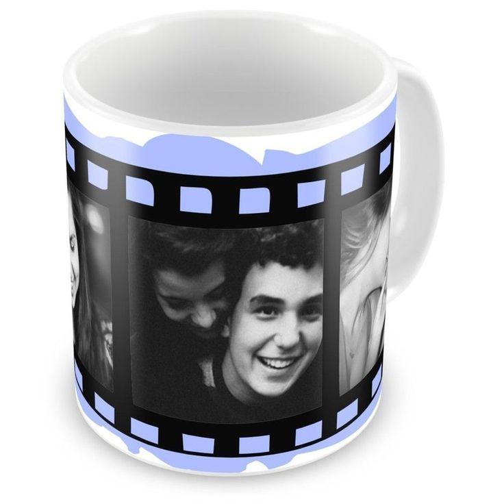 Caneca Porcelana Personalizada Filme Fotográfico Com 3 Fotos - ArtePress | Brindes Personalizados, Canecas, Copos, Xícaras