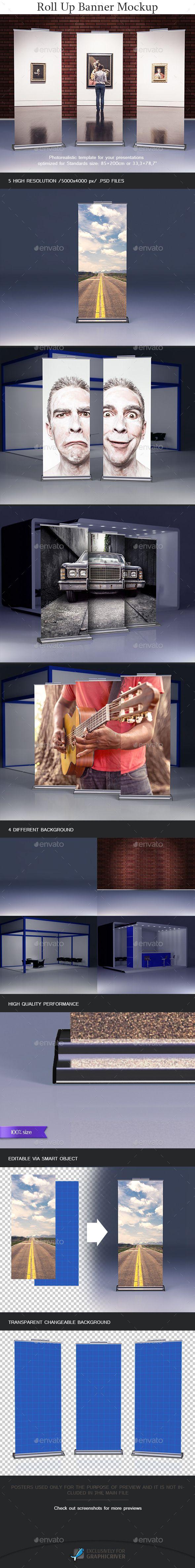 Roll Up Banner Mockup #design Download: http://graphicriver.net/item/roll-up-banner-mockup/12285684?ref=ksioks