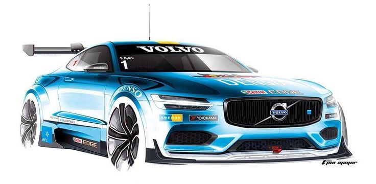 SWEDEN! The Volvo Concept Coupe in Polestar colors for STCC champion Thed Björk - by designer T. Jon Mayer