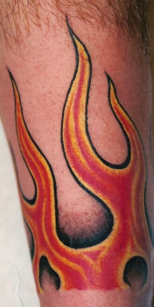 Red Flame Tattoo - pictures, photos, images