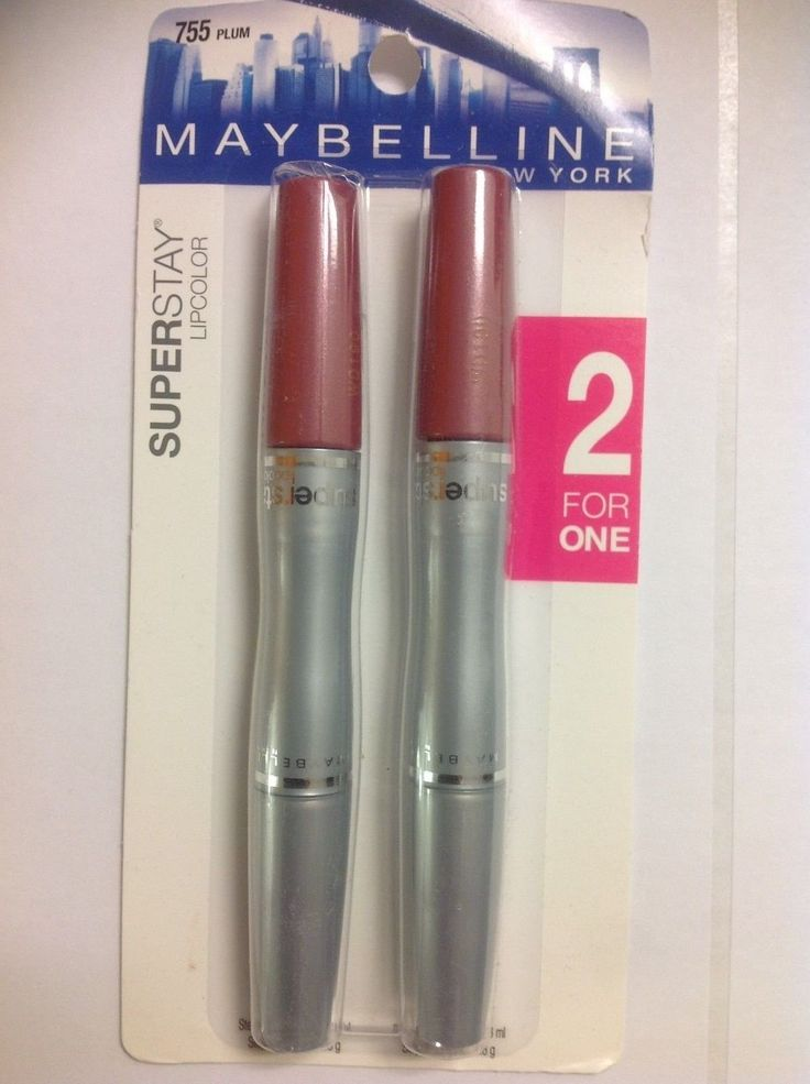 2 FOR ONE ( DOUBLE PACK ) MAYBELLINE SUPERSTAY LIPCOLOR 16 HOURS PLUM #755. 2 FOR ONE ( DOUBLE PACK ) MAYBELLINE SUPERSTAY LIPCOLOR 16 HOURS PLUM #755.