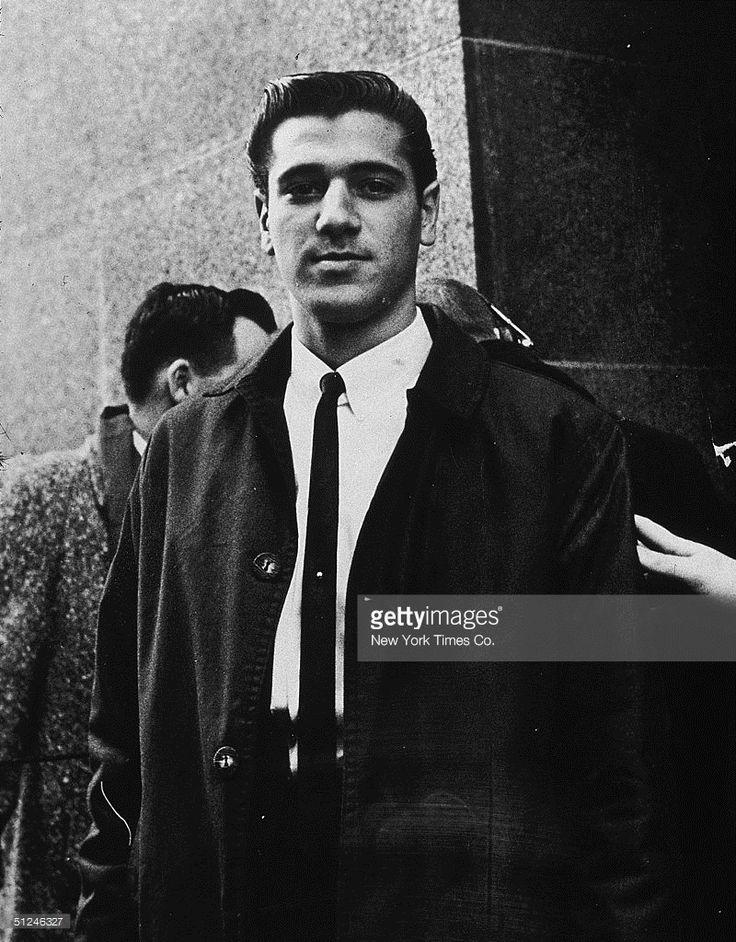 December 1964, Joseph Bonanno Jr, son of the underworld leader Joseph Bonanno, outside the Federal Courthouse, New York City.