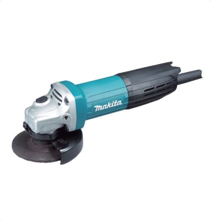 Makita GA4032 Angle Grinder     Small circumference barrel grip and ergonomically designed side grip angle for easy handling.     Small gear housing provides easy handling and high maneuverability.     Easy-to-operate toggle switch.     Powerful motor with excellent heat-resistance.     Labyrinth construction protects all ball bearings from dust and debris.     Field coated with powder varnish to protect from dust. For More Details: http://www.mrthomas.in/makita-ga4032-angle-grinder_52