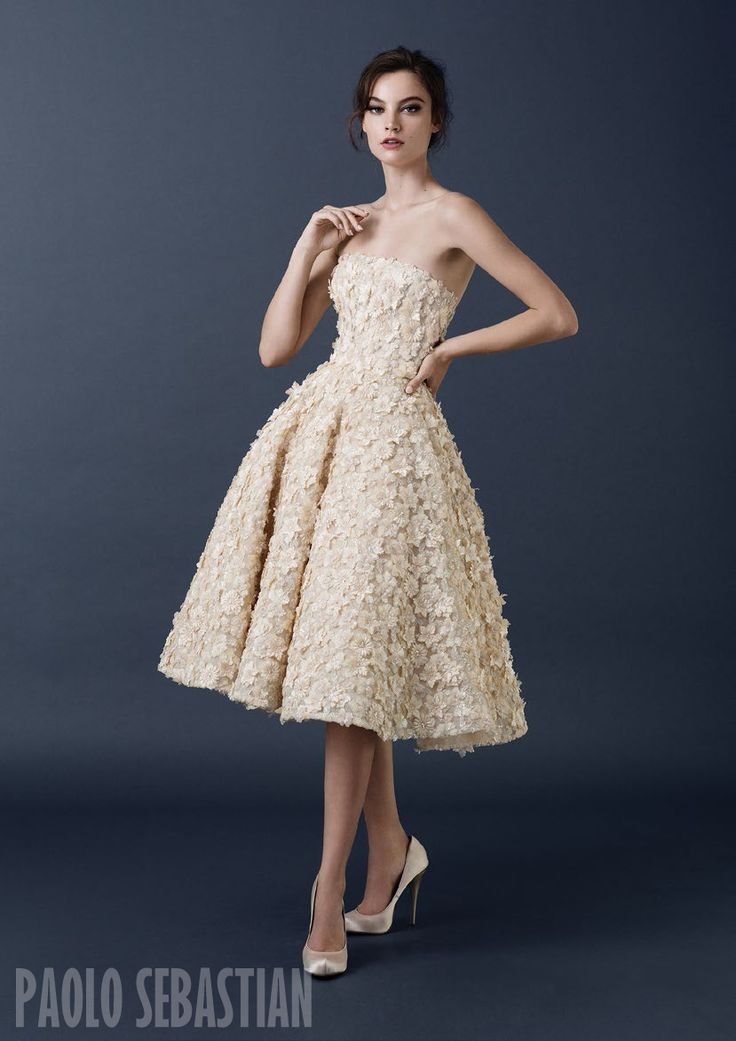 PSAW1504 Strapless ballerina gown with 3D floral embellishment