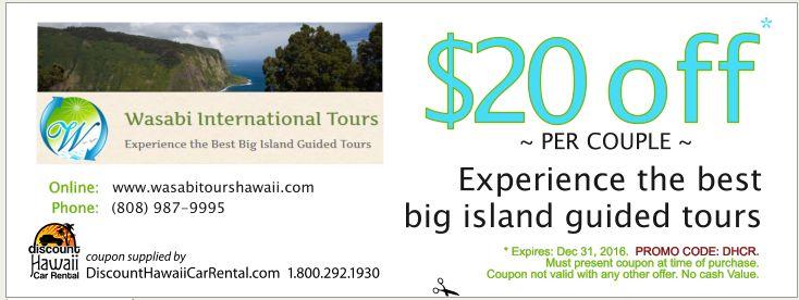 Big island coupons