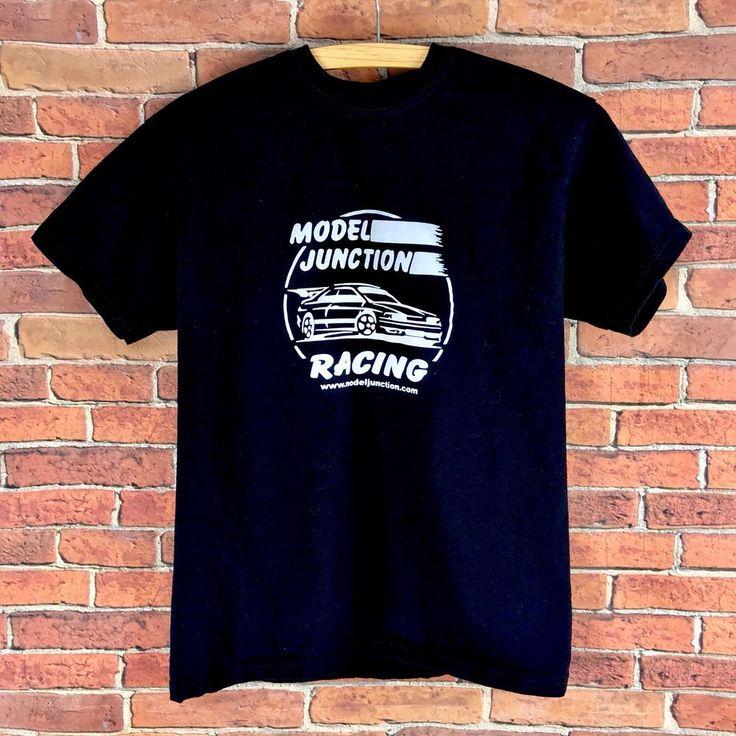 Kids T Shirt Boys Model Junction Racing black with car design logo on age 12-13