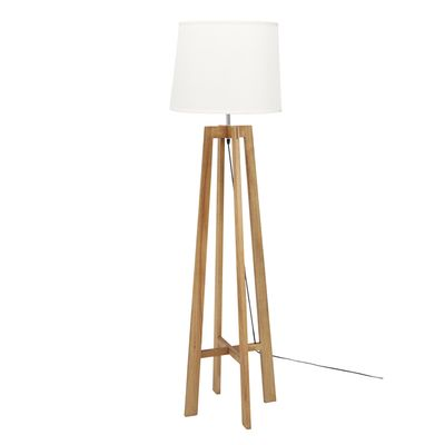 Wooden leg floor light, from dwell