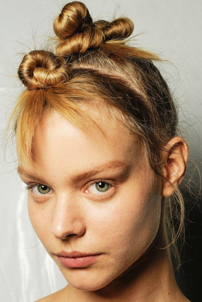 """Sleep On It (the Right Way) - """"If you wash your hair at night, get one of those '90s velvet scrunchies and put it up into a topknot, or do Princess Leia buns and sleep on it,"""" says Atkin. """"But be sure to twist the buns away from your face and leave half an inch of the end out for a relaxed look."""""""