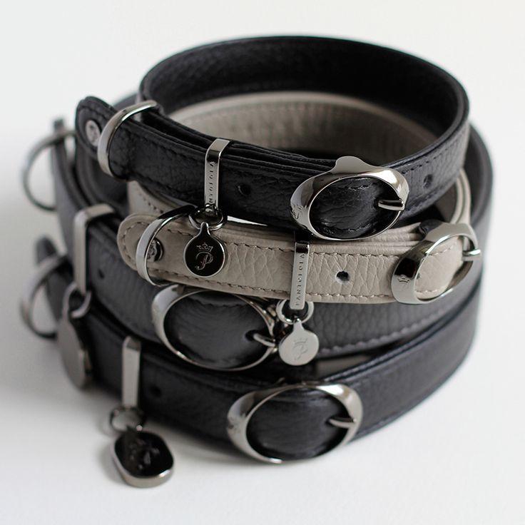Luxury Italian Leather Dog Collars from Pantofola