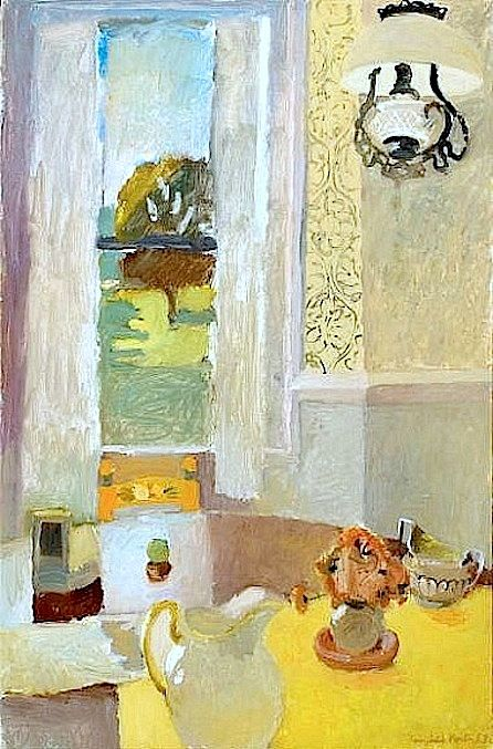 Fairfield Porter Still Life with Yellow Tablecloth