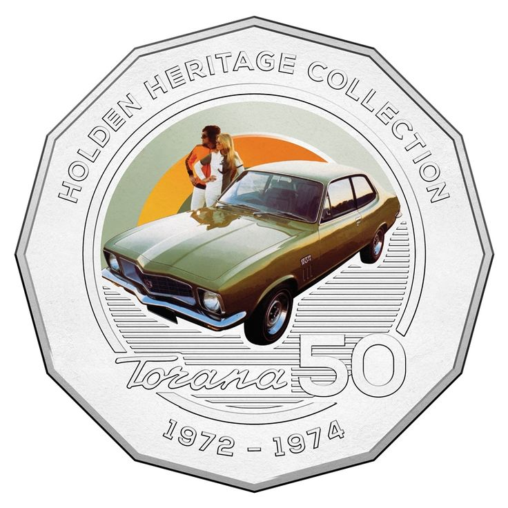 50c 2016 Holden Heritage Collection - Torana reverse