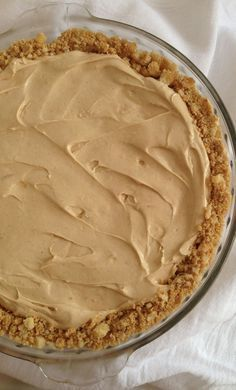 Easiest no-bake peanut butter cream cheese pie. From my Gramma's recipe collection. So delicious and simple. Rich peanut butter flavor. #recipe #thegoldlininggirl