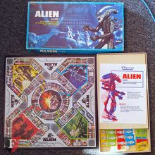In very good used condition & 100% Complete: Has all astronauts & aliens, dice, instructions, etc. Game Board is NM (Near Mint).   The object is to be the first player to get one of your Astronauts into the space shuttle Narcissus. You also use your Alien to eliminate the astronauts of the other players.   What's interesting about ALIEN, is that despite the fact that kids weren't permitted to watch it, they were encouraged to play it. 20th Century Fox partnered with Kenner for a board game…