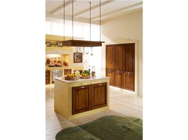 Idee per le pareti della cucina avorio in cucina - Colore pareti cucina legno ...