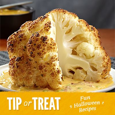 Roasted Cauliflower #Halloween