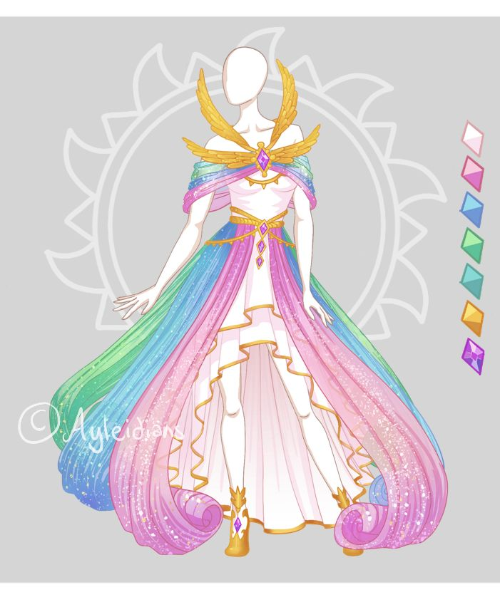 CLOSED Fashion adoptable auction ~ Celestial dress by Ayleidians on DeviantArt